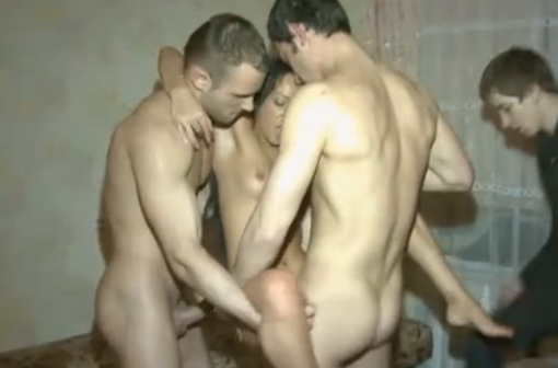 Very pity girlfriend fucking drunken gangbang theme, very